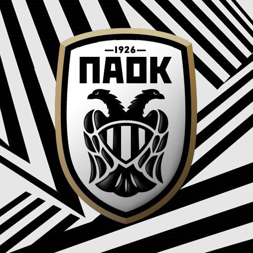 PAOK FC MACRON Black Polo With White Stripes