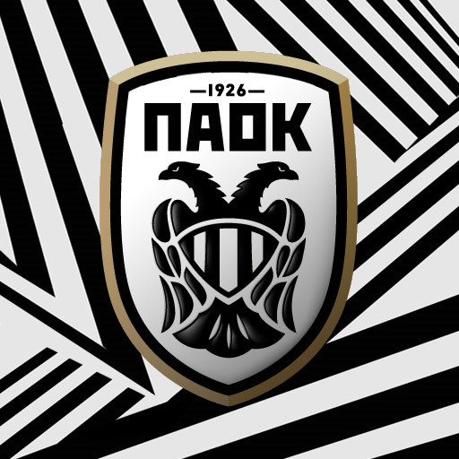 PAOK FC WHITE LOGO BLACK AND WHITE SCARF