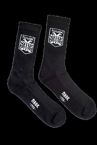 Κάλτσα ΠΑΟΚ Μαύρη  Ψηλή Σήμα 010079