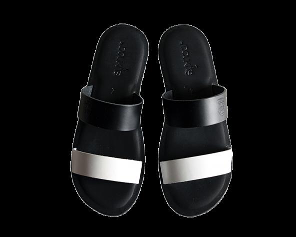 Πέδιλο ΠΑΟΚ Luxury Black & White 011679