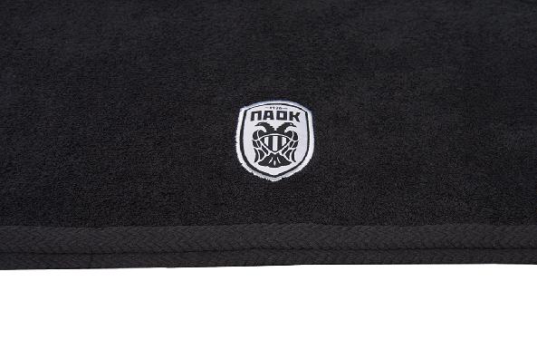 Πετσέτα Μαύρη  ΠΑΟΚ Ασπρο Σήμα