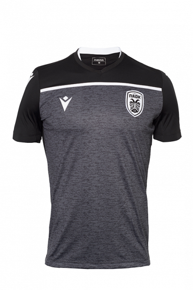 T-shirt  Προθέρμανσης  Μαυρο Γκρι  ΠΑΟΚ Παιδικό19-20 009855