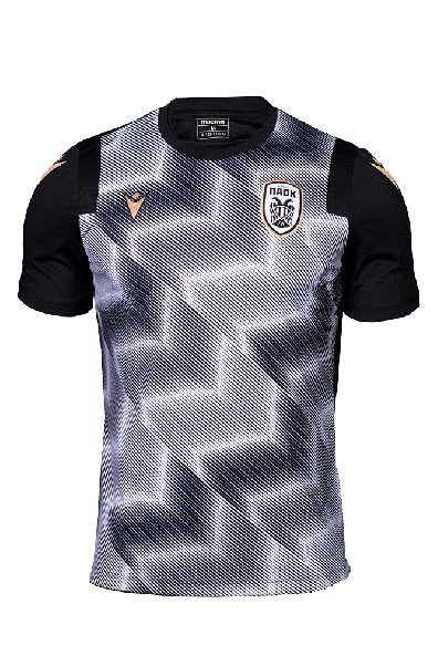 T-shirt  Προθέρμανσης  Μαύρο Λευκό  ΠΑΟΚ 20-21 010875
