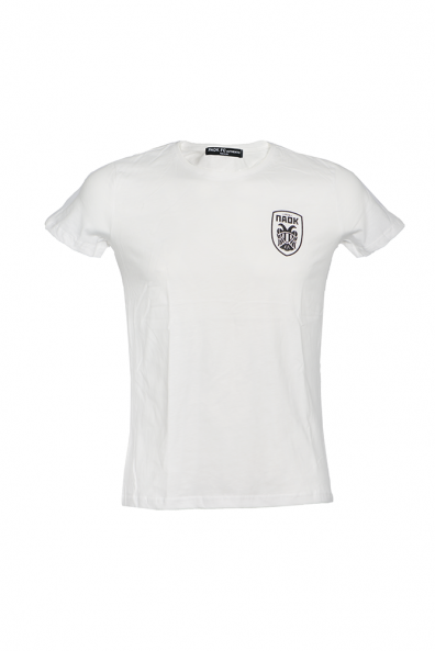 T-shirt Λευκό Γυναικείο Ανάγλυφο Σήμα 011451