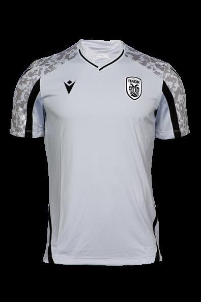 T-shirt ΠΑΟΚ Προπόνησης Ασημί/Μαύρο 21-22 011626