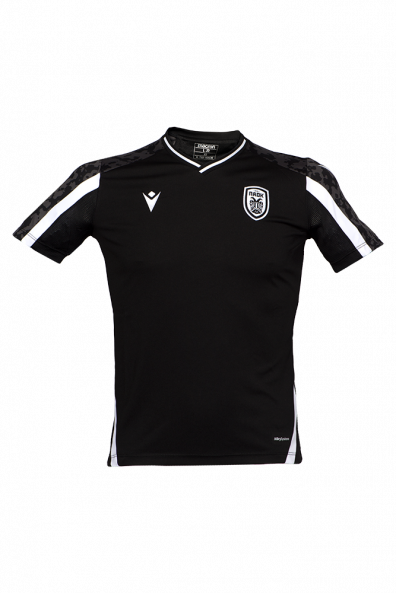T-shirt ΠΑΟΚ Προπόνησης Μαύρο/Λευκό Παιδικό 21-22 011623