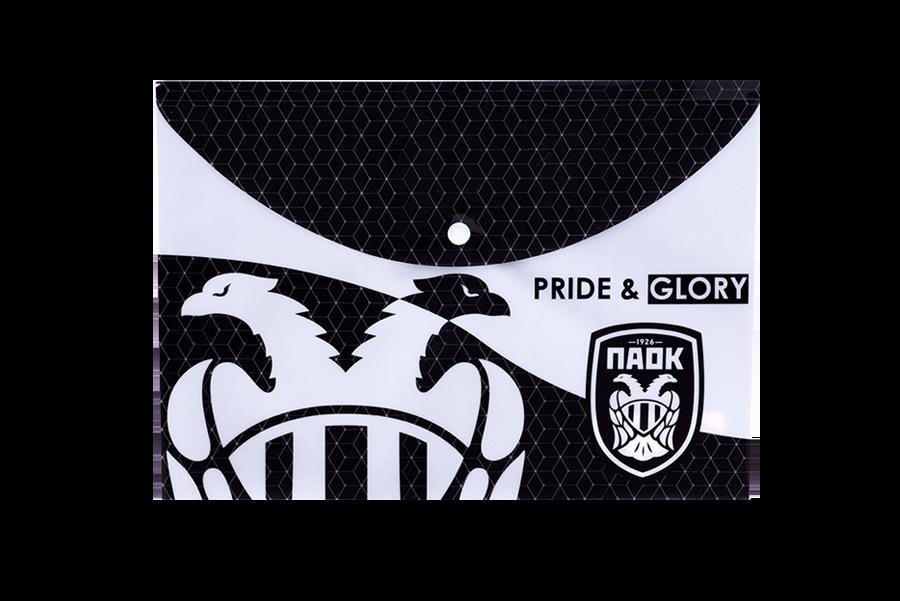 Φάκελος ΠΑΟΚ Mε Κουμπί Α4 Pride & Glory