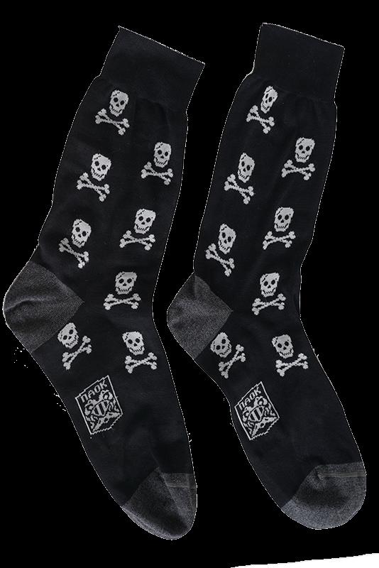 Κάλτσα ΠΑΟΚ Μαύρη Με Νεκροκεφαλές 008410