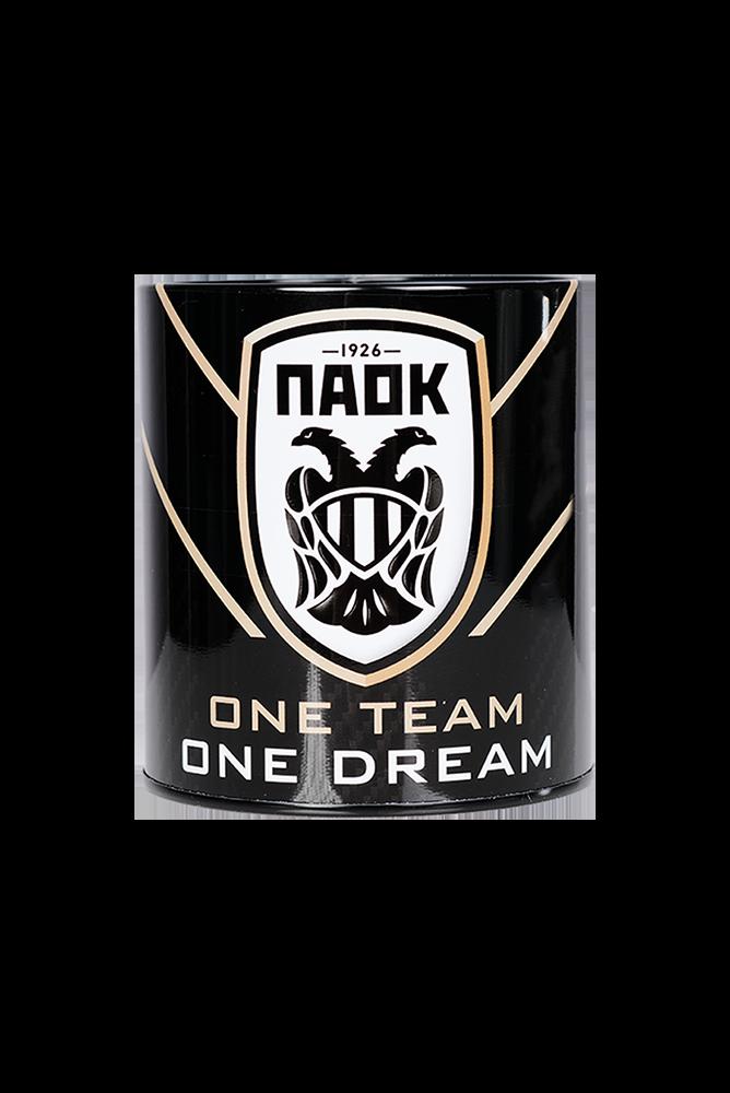 Μολυβοθήκη Μεταλλική ΠΑΟΚ 10Χ11 ONE TEAM ONE DREAM