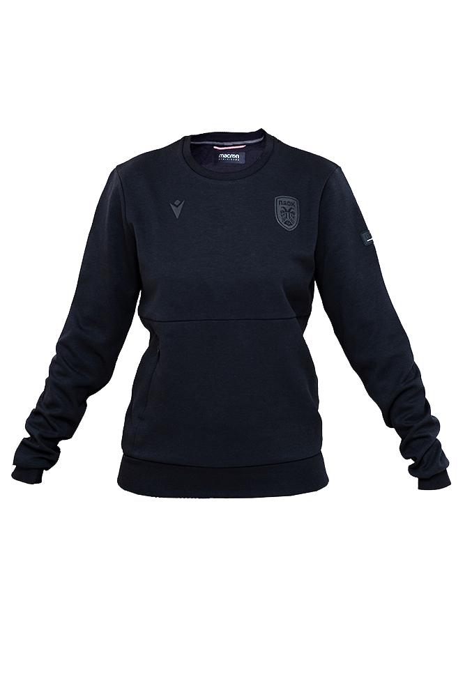Μπλούζα γυναικεία ΠΑΟΚ μαύρη τσέπες 011242