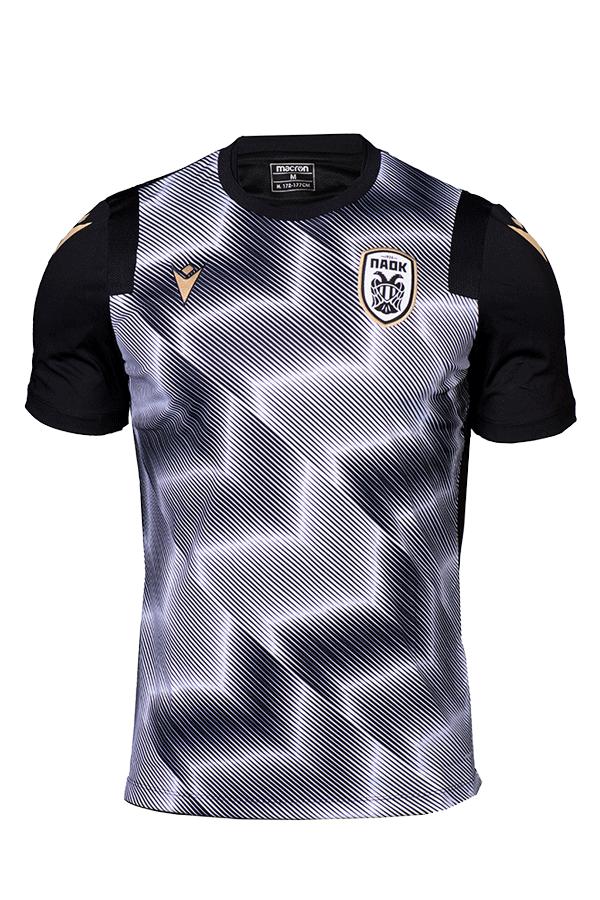 T-shirt  Προθέρμανσης  Μαύρο  Λευκό ΠΑΟΚ Παιδικό  20-21 010876