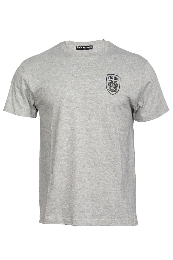 T-shirt Γκρι Ανάγλυφο Σήμα 011442