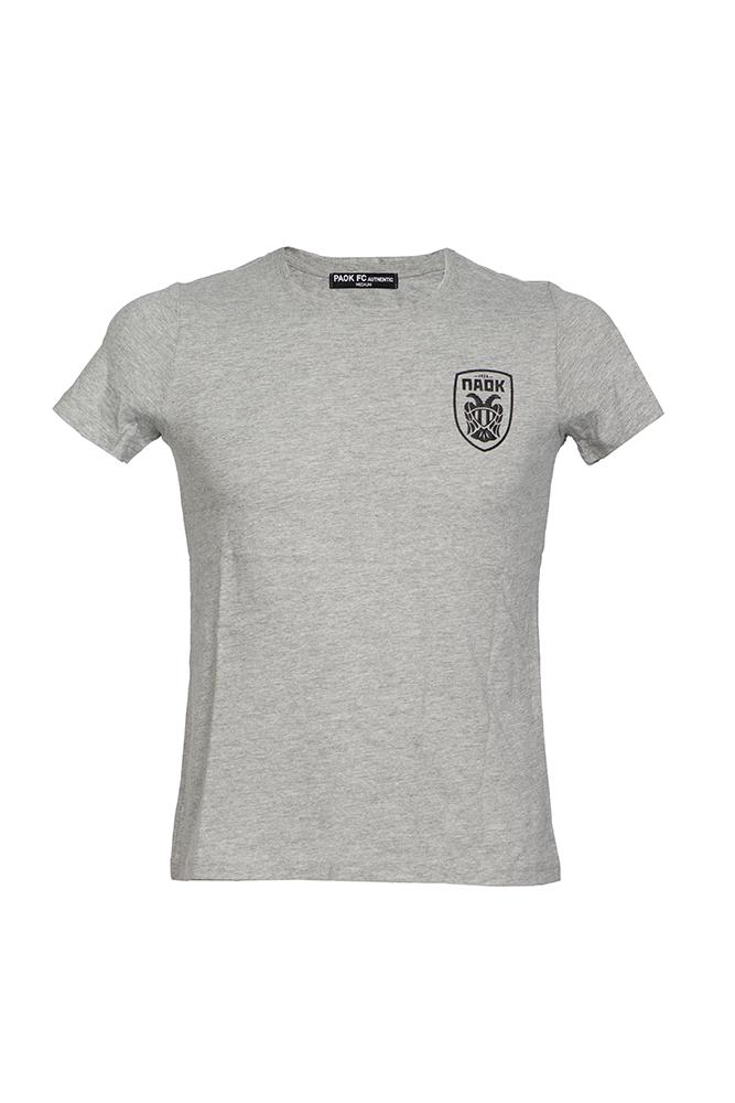T-shirt Γκρι Γυναικείο Ανάγλυφο Σήμα 011450