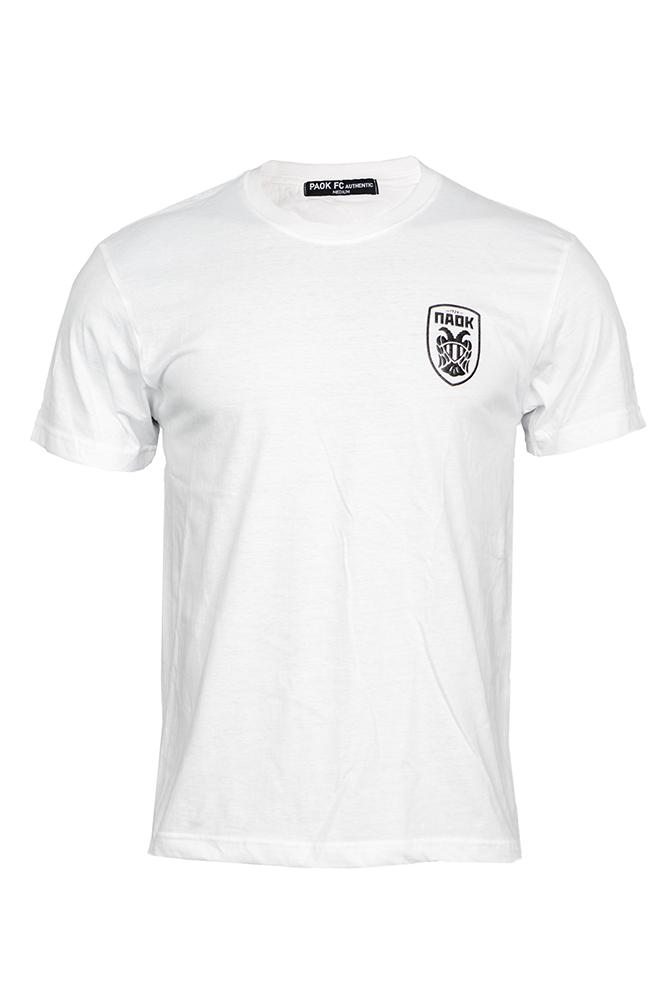T-shirt Λευκό Ανάγλυφο Σήμα 011443