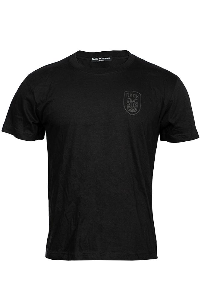 T-shirt Μαύρο Ανάγλυφο Σήμα 011441