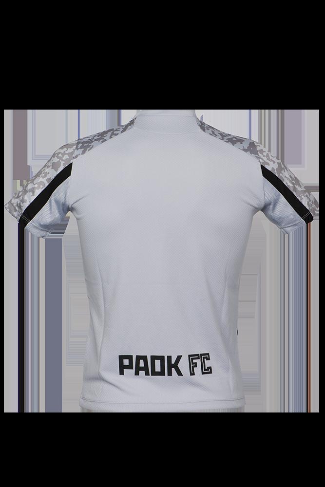 T-shirt ΠΑΟΚ Προπόνησης Ασημί/Μαύρο Παιδικό 21-22 011627
