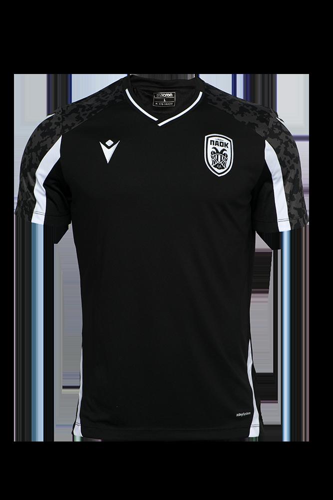 T-shirt ΠΑΟΚ Προπόνησης Μαύρο/Λευκό 21-22 011622