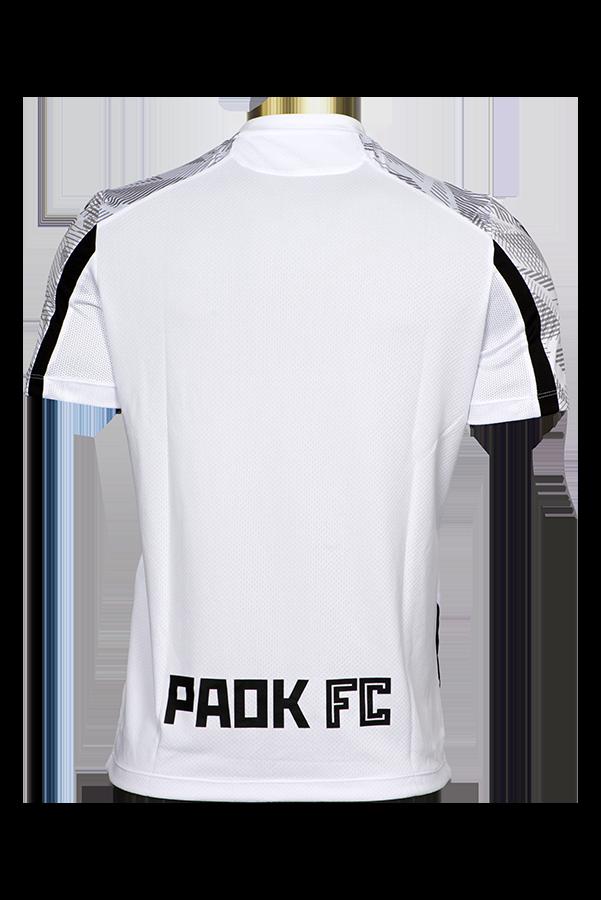 T-shirt Προθέρμανσης ΠΑΟΚ Μαύρο/Λευκό/Γκρι 21-22 011640