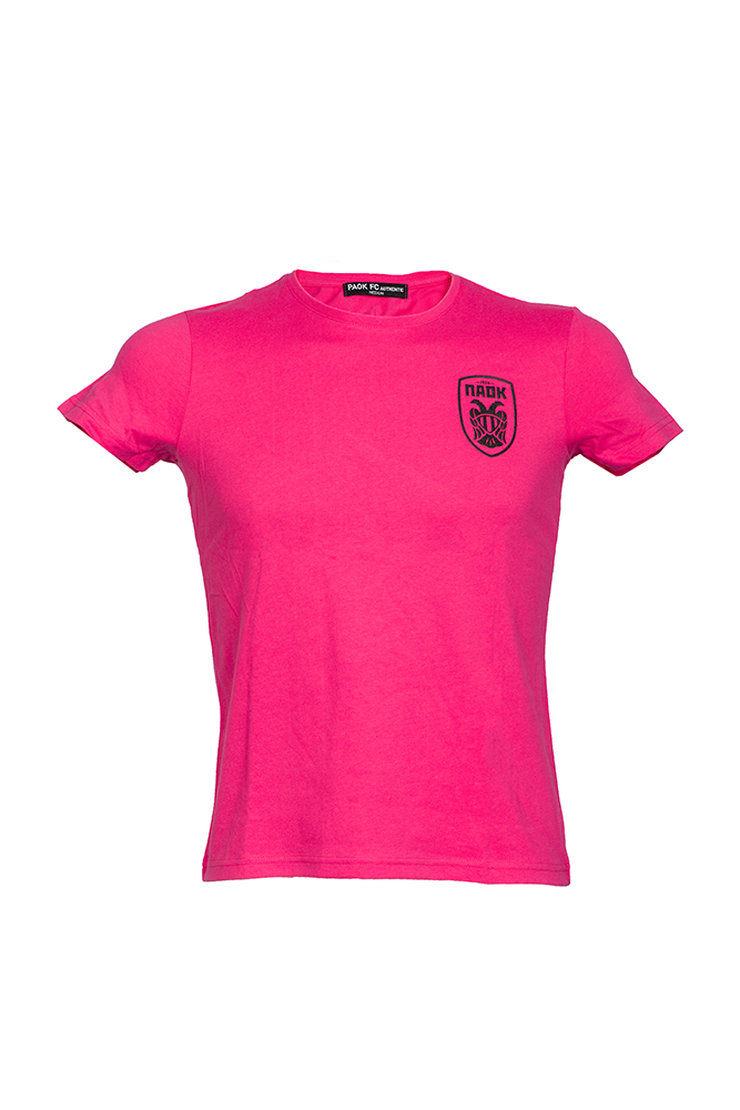 T-shirt Ροζ Γυναικείο Ανάγλυφο Σήμα 011452
